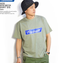 RADIALL FLAGS CREW NECK T-SHIRT S/S -KHAKI-画像