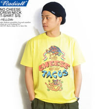 RADIALL NO CHEESE CREW NECK T-SHIRT S/S -YELLOW-画像