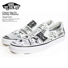 VANS Classic Slip-On (Ashley Williams) Nwspr/Trwht VN0A38F7SFQ画像