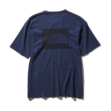 THE NORTH FACE S/S SQUARE LOGO JACQURD TEE BLUE WING TEAL NT11932-BT画像