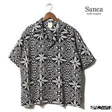 Sanca 2019SS RAYON PRINT OPEN COLLAR SHIRT MADE IN JAPAN S19SSH12画像