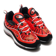 NIKE AIR MAX 98 HBNR RED/BLACK-WHITE-MTLC GLD 640744-604画像