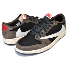 NIKE AIR JORDAN 1 LOW OG SP TRAVIS SCOTT black/sail-dark mocha CQ4277-001画像