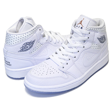 NIKE WMNS AIR JORDAN 1 MID white/midnight navy CI9100-100画像
