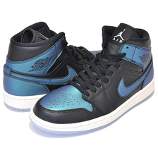 NIKE WMNS AIR JORDAN 1 MID blk/pale ivory-multi-color BQ6472-009画像