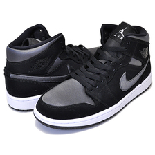 NIKE AIR JORDAN 1 MID SE black/anthracite-white 852542-012画像