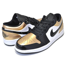 NIKE AIR JORDAN 1 LOW GOLD TOE mettalic gold/black-white CQ9447-700画像