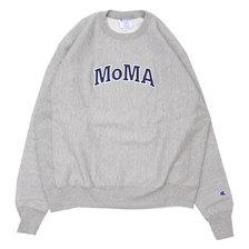 Champion × MoMA Reverse Weave Crewneck Sweatshirt H.GREY画像