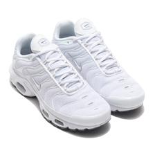 NIKE AIR MAX PLUS WHITE/WHITE-BLACK-COOL GREY 604133-139画像