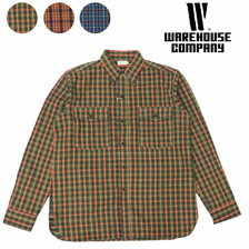 WAREHOUSE Lot 3022 FLANNEL SHIRTS WITH CHINSTRAP画像