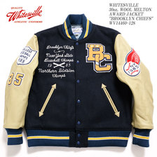 "Whitesville 30oz. WOOL MELTON AWARD JACKET ""BROOKLYN CHIEFS"" WV14460-128画像"