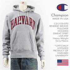 Champion REVERSE WEAVE PULLOVER HOODED SWEAT SHIRT Harvard University MADE IN USA C5-L102画像