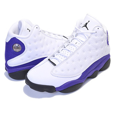 NIKE AIR JORDAN 13 RETRO LAKERS white/black-court purple 414571-105画像