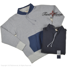 Two Moon Stand collar pullover sweat 92025画像