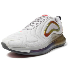 NIKE AIR MAX 720 SUMMIT WHITE/VAST GREY/TEAM ORANGE/GREY/RED/BLACK CI3870-100画像