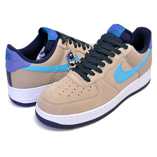 NIKE AIR FORCE 1 07 LV8 2 khaki/blue fury-persian violet CD0887-201画像