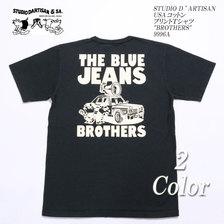 "STUDIO D'ARTISAN USAコットン プリントTシャツ ""BROTHERS"" 9996A画像"