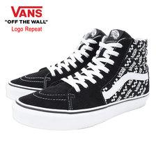 VANS Sk8-Hi Black/True White Logo Repeat VN0A4U3CTEZ画像