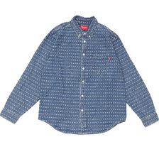 Supreme 20SS Jacquard Logos Denim Shirt画像