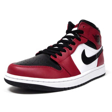 "JORDAN BRAND AIR JORDAN 1 MID ""CHICAGO BLACK TOE"" BLACK/BLACK/GYM RED 554724-069画像"