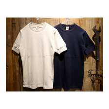 FREEWHEELERS BROAD RIB SET-IN S/S CREW NECK T-SHIRT 2025022画像