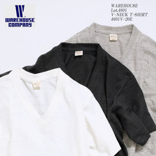 WAREHOUSE Lot.4601 Vネック Tシャツ画像