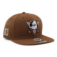 '47 Brand × Carhartt ANAHEIM MIGHTY DUCKS SNAPBACK CAP BROWN HQ-KMORE125DUP-BWA画像