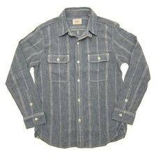 UES Original Cotton Twisted Yarn Fabric Work Shirt CHAMBRAY 502001画像