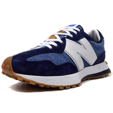 new balance MS327LVA Levi's NAVY/WHITE画像