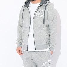 NIKE JDI Fleece Full Zip Hoodie Grey DA0149-063画像