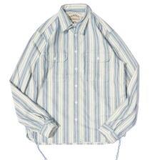 SAMURAI JEANS SSS21-ST 刺し子ストライプワークシャツ画像