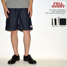 FULLCOUNT Denim & Indigo Bold Stripe Easy Shorts 1004画像