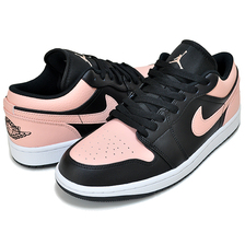 NIKE AIR JORDAN 1 LOW black/arctic orange-white 553558-034画像