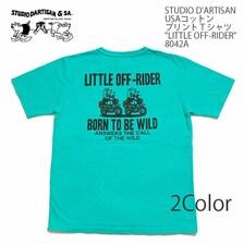 "STUDIO D'ARTISAN USAコットン プリントTシャツ ""LITTLE OFF-RIDER"" 8042A画像"