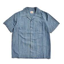 SAMURAI JEANS SOS21-S02 藍絣オープンカラーシャツ画像
