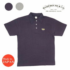 WAREHOUSE Lot 4090 Yusuke Hanai × WAREHOUSE & CO. 鹿の子ポロシャツ JAGUAR (ワッペン)画像