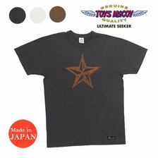 "TOYS McCOY MOTORCYCLE TEE DURABLE ""WILD HORSE & STAR"" TMC2144画像"