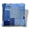 J.AUGUR DESIGN SMALL PATCHWORK PILLOW DENIM×WHITE CANVAS画像