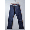"THE STRONGHOLD ""DM008""SLIM FIT STRAIGHT LEG HEAVY WEIGHT BLUE DENIM raw indigo画像"