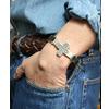 JACK WALKER silver & leather bracelet #04画像