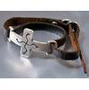 JACK WALKER silver & leather bracelet #03画像