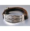 JACK WALKER silver & leather bracelet #02画像