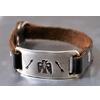 JACK WALKER silver & leather bracelet #01画像