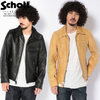 Schott #7209 103US TRUCKER LEATHER JACKET BLACK画像