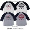 GUNZ Columbus,O. 七分袖Tシャツ 441G157画像