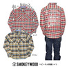 SMOKEYWOOD 刺繍 ヘビーフランネルシャツ SW012542画像