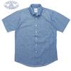 BAGGY 半袖 シャンブレーシャツ ブルー メンズ画像