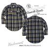 ROCKMOUNT フランネル 七分袖ウエスタンシャツ ブラック×ゴールド SP648-BLK×GOLD画像