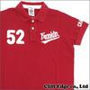 FRANKLIN&MARSHALL ワッペン付き 半袖ポロシャツ RED画像