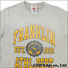 FRANKLIN&MARSHALL ひび割れ加工 ロゴプリントTシャツ ONTARIO GREY画像